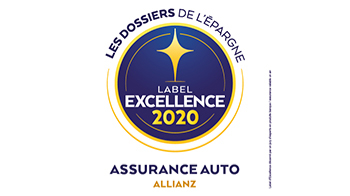 Label d'Excellence 2020 Assurance Auto de l'agence  Allianz Chateau d oleron - Veronique BOISHARDY